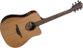 Lag Tramontane T100DCE Dreadnought Cutaway Acoustic Electric Guitar - Natural