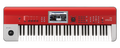 Korg Krome 61RD Keyboard Synthesizer Music Workstation in Ltd Ed RED !!
