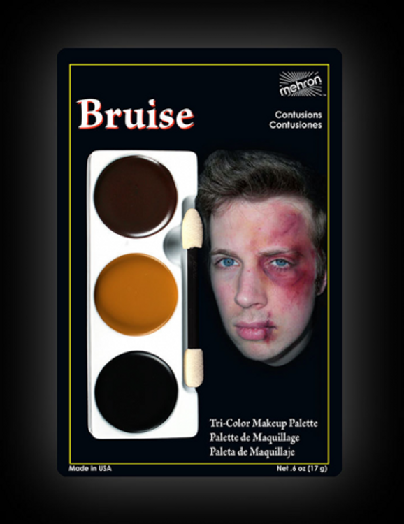 Mehron Tri-Colour Make-up Palette - Bruise