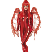 Gothic Style Wings Red