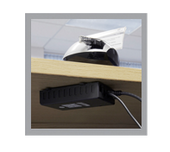 TA8050 DeskPoint Pro Under Desk Black Box Wi-Fi Access Point with RJ45 Socket