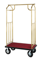 Value Valet Bellman's Cart - Brass Plated Finish- Wholesale Hotel Products