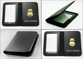 Customs and Border Protection ID Cases Embossed with Family Member