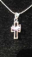 Medium 3D Crystal Cross Necklace (MZ Exlusive Product)