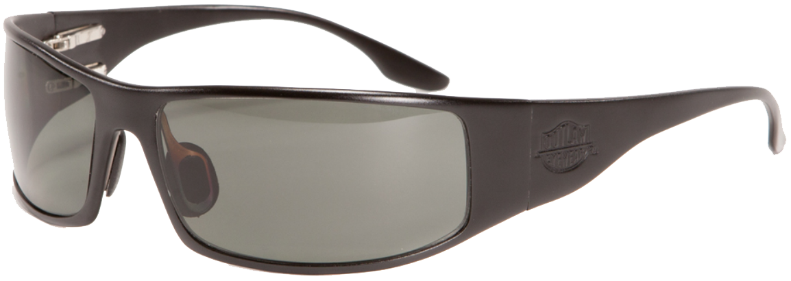 OutLaw Eyewear Fugitive TAC Black frame with Gray Polarized lenses