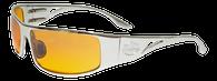 OutLaw Eyewear Fugitive Polished Aluminum frame with Orange Gradient lenses. OCC style