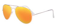 SunKissed Aviator 3025 sunglass, Gold frame with Sunburst Orange lenses