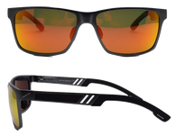Wayfarer Mg Black Sunglass frame with Sunburst Polarized lenses