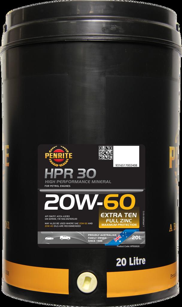 penrite hpr 30 20w-60 20 litres