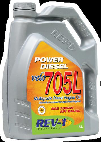 REV-1 Velo 705L 15W-40 CI4 Diesel Engine Oil 5L