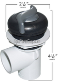 "Waterway Plastics Spa 1"" Waterfall On/Off Valve Complete Graphite Gray/Silver 600-3249DSG-PS"
