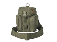 The Essential Kitbag® was designed to hold all essential bushcraft/survival kit. This bag will hold the Heavy Cover Titanium Canteen & cup, or Nalgene Bottle & cup , folding stove, flashlight, compass, cord, sewing kit etc. All kit is neatly organized in separate pockets. Essential can be carried attached to backpack or belt via MOLLE/PALS or with its own shoulder strap. There is a sleeve on the back that will hold a folding saw/knife/axe. Capacity can be velcro reduced. Extra pouches can be attached at the front side. The Essential Kitbag is an ideal one-day expedition bag to carry all essential stuff.  Features      adjustable buckle closure Takes most 1 liter water bottles (Nalgene, Heavy Cover Titanium & Canteen & cup) Main chamber with adjustable drawstring and compartment for folding expeditionary cooker Zippered mesh water purification tablets pocket inside the flap Side organizer YKK®-zippered pockets with loop and mesh pocket Built in velcro-adjusted sheath for knife/axe/saw Detachable, adjustable wide carrying strap, DUTY BELT/PALS/MOLLE compatible D-rings for strap Co-designed by Survivaltech.pl