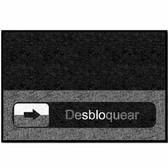 Tapetes AlproShop® | TAPETE DECORATIVO LOGOMAT DISEÑO DESBLOQUEAR DE 90 X 60 CM