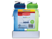 RUB 7M50 SET DE DOS BOTELLAS RELLENABLES DE 600 ML COLOR AZUL Y VERDE RUB 7M50