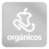 ETIQUETA DE VINIL AUTOADHERIBLE VERDE PARA RESIDUOS ORGÁNICOS RECICLABLES NORMA AMBIENTAL CDMX