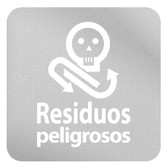 ETIQUETA DE VINIL AUTOADHERIBLE TRANSPARENTE PARA RESIDUOS PELIGROSOS NORMA AMBIENTAL CDMX