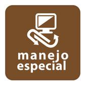 ETIQUETA DE VINIL AUTOADHERIBLE CAFE PARA RESIDUOS DE MANEJO ESPECIAL NORMA AMBIENTAL CDMX