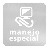 ETIQUETA DE VINIL AUTOADHERIBLE TRANSPARENTE PARA RESIDUOS DE MANEJO ESPECIAL NORMA AMBIENTAL CDMX