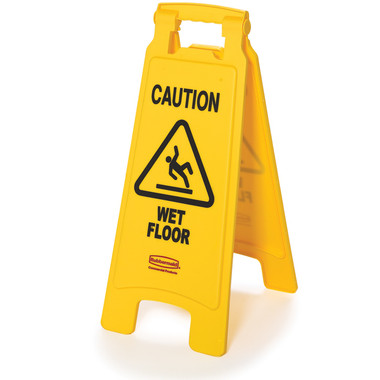 "6112-77 SEÑAL DE PISO ""CAUTION WET FLOOR"" FG611277YEL"