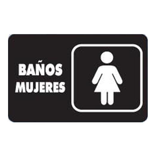 """7931 SEÑAL PLACA RIGIDA """"BAÑOS MUJERES"""" - AlproShop.com"""
