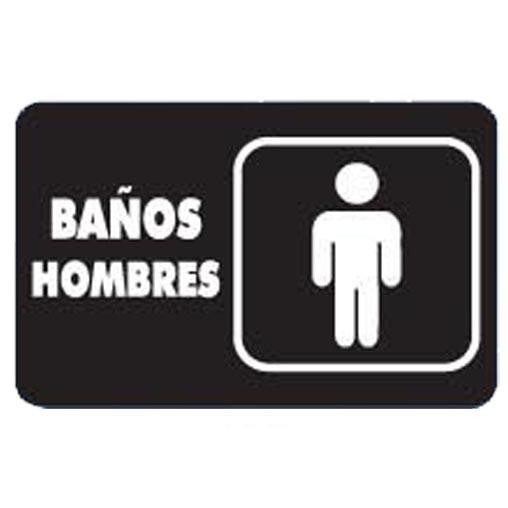 """Imagen De Baño Hombre:7930 SEÑAL PLACA RIGIDA """"BAÑOS HOMBRES"""" – AlproShop"""