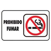 """7933 SEÑAL PLACA RIGIDA """"PROHIBIDO FUMAR"""""""