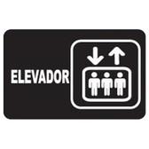 """7943 SEÑAL PLACA RIGIDA """"ELEVADORES"""""""