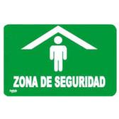 """7765 SEÑAL GRANDE PLACA RIGIDA """"ZONA DE SEGURIDAD"""""""