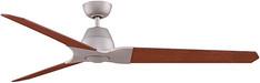 Wylde - satin nickel finish fan with reversible cherry/walnut blades