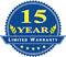 15 Year Limited Warranty