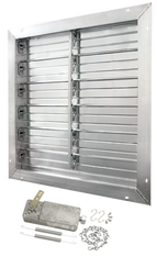 "Aluminum Intake Power Shutter - 12"", 16"", 18"", 20"", 24"", 30"", 36"", 40"", 42"", 48"", 54"" and 60"""