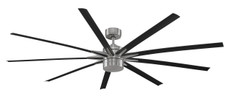 FANIMATION - ODYN: ENERGY SAVER 32 WATTS CEILING FAN - BRUSHED NICKEL, BLACK BLADE-8, OPAL FROSTED GLASS