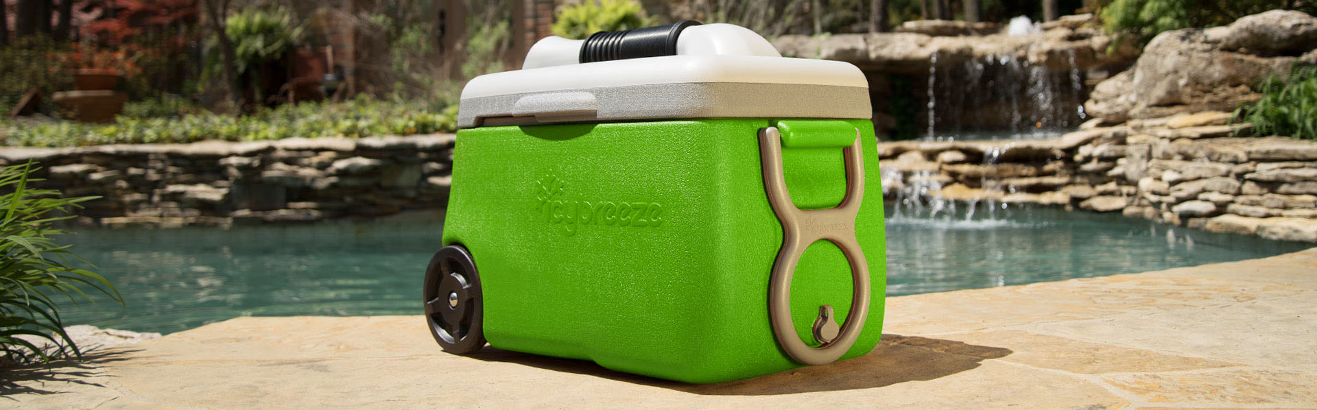 You can take the IcyBreeze portable air conditioner wherever you go.
