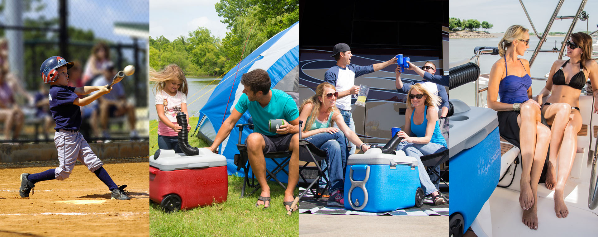 Keeping cool at the campsite is a breeze with our portable camping air conditioner.