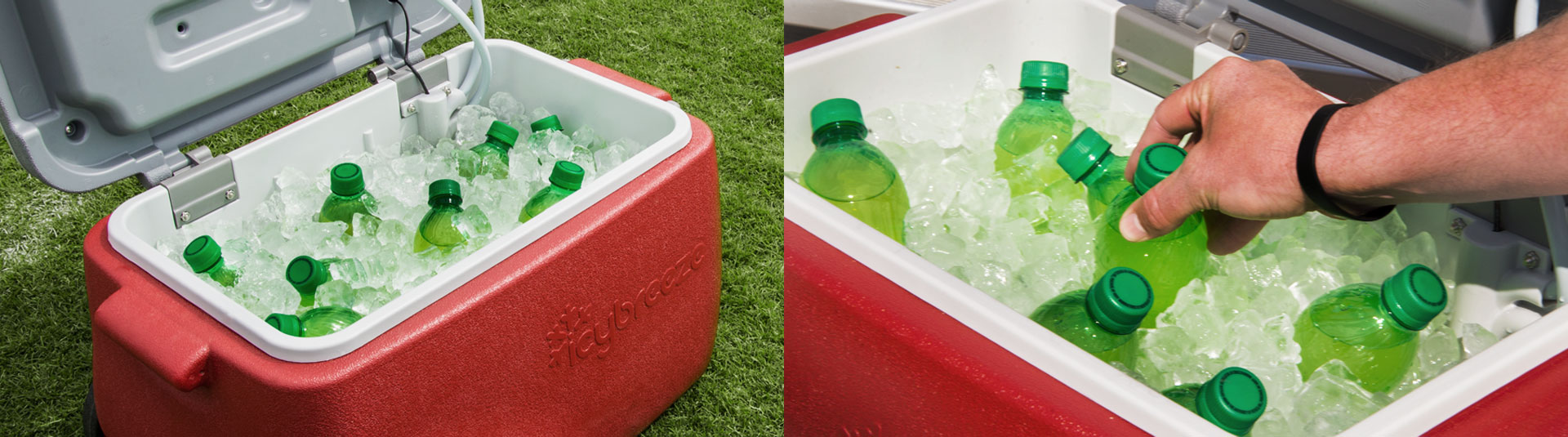 Not only do you get portable airconditioning but you geta a 38qt cooler for all of your food and drinks.