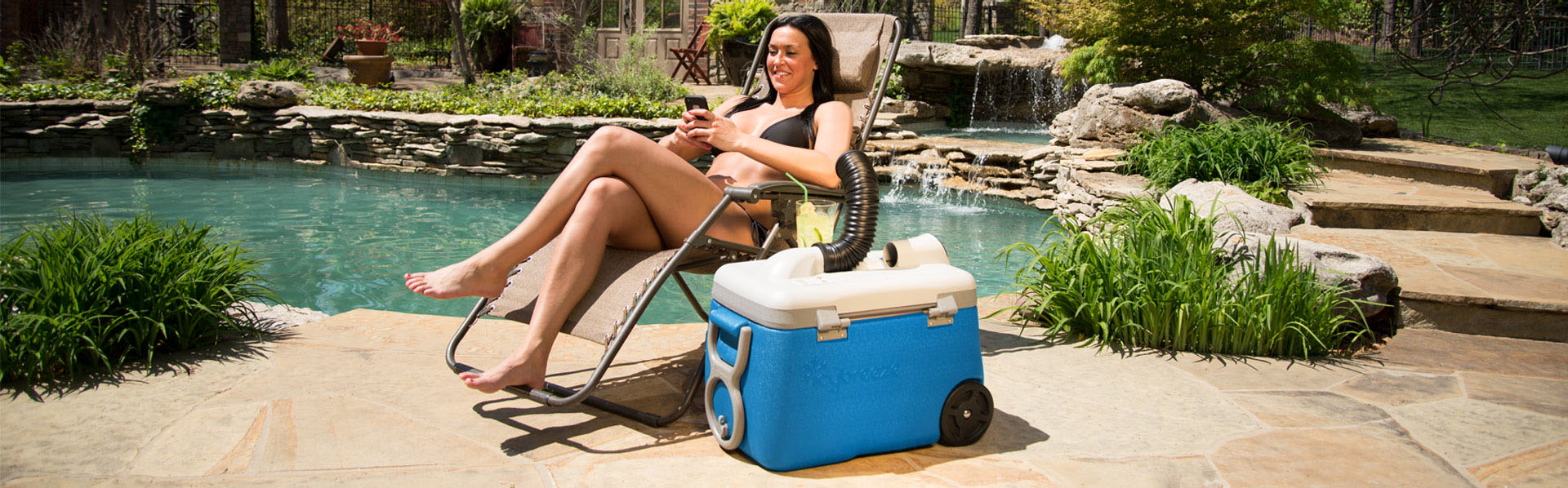 Whether your sitting by the pool, on the beach or at the park you can stay cool with portable AC