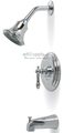 Premier 120353 Charlestown Tub and Shower Faucet ceramic Disc Chrome