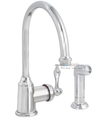 Wellington Kitchen Faucet Single Handle Chrome with Matching Spray