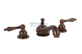 Wellington Lavatory Faucet Two Handle Widespread 3-hole Oil Rubbed Bronze Ceramic Disc Teapot Style Handles