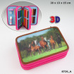 Horses Dream Triple  Filled Pencil Case  - 3D www.the-village-square.com EAN: 4010070303815