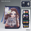 Fantasy Model Filled Pencil Case De Luxe - Printed Wolf www.the-village-square.com EAN:4010070324995
