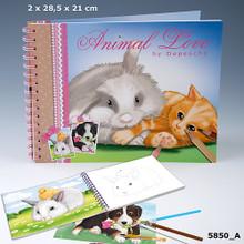 Animal Love Colouring & Sticker Book www.the-village-square.com