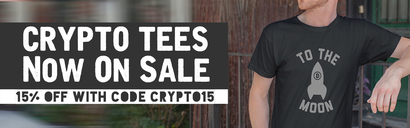 Crypto tees on sale with code CRYPTO15
