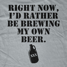 Right now, I'd rather be Brewing my own Beer T-Shirt