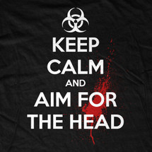 Aim for the Head Zombie Biohazard T-Shirt