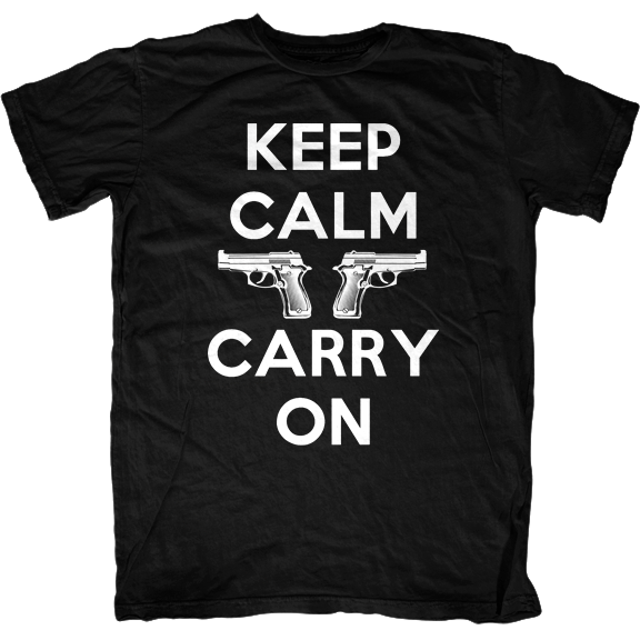 Keep Calm and Carry On 2nd Amendment T-Shirt