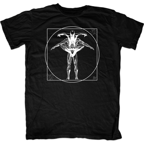 Vitruvian Spiderman T-Shirt | FAT-Tee.com