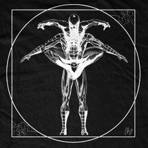 Vitruvian Spiderman T-Shirt