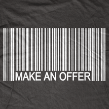 Make Me an Offer Barcode T-Shirt