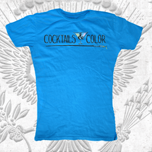 Cocktails & Color Womens T-Shirts